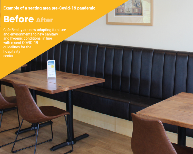 Example of Pub Seating Area Pre Covid-19 by cafe reality