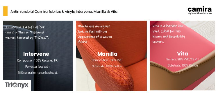 Antimicrobial Fabrics and Vinyls by Camira and Office Reality