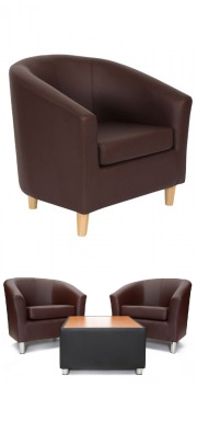 Tritium Tub Chair Brown