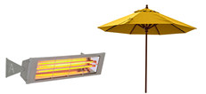 Outdoor Heaters & Parasols