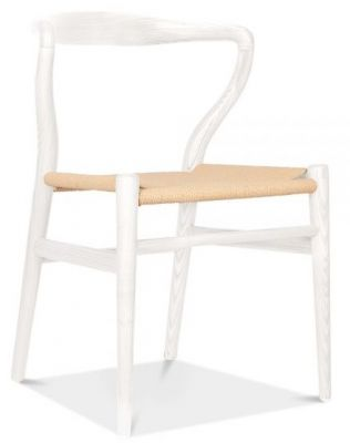 Katcut Dining Chair White Frame Front Angle