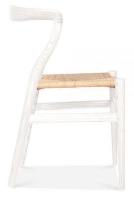 Katcuit Dining Chair White Frame Side View