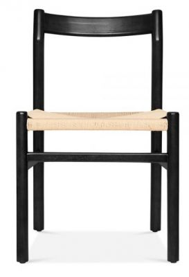 Paco Designer Dining Hair With A Black Frame Front View