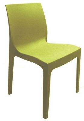 Moby Outdoor Plastic Chair In Lime Green