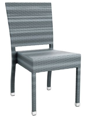 LOndi Grey Outdoor Weave Side Chair