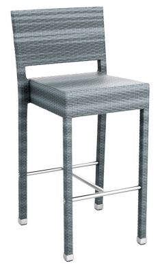 Londi Outdoor Weave High Stool - Grey Weave