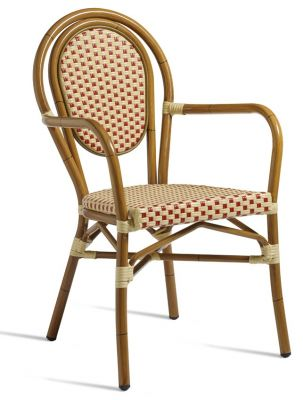 Formosa Red And Cream Weave Armchair