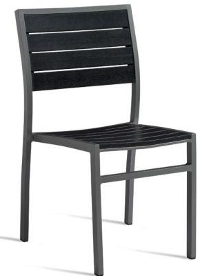 Fiesta Like Wood Black Aluminium Side Chair