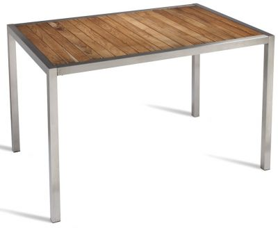 Fiesta Teak And Stainless Steel Rectangular Table