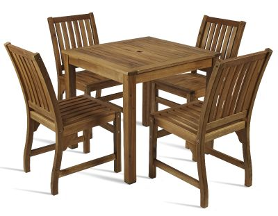 Windsor Outdoor Four Person Wooden Dining Set