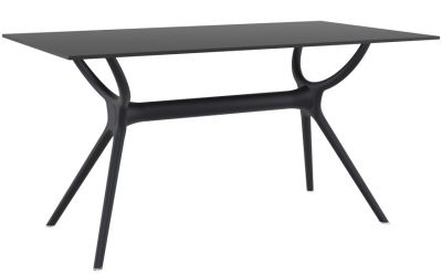 Marvelo Rectangular Black Olutdoor Table
