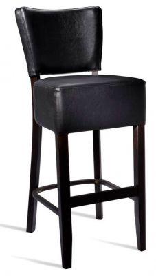 Rosie V3Black Leather High Stool
