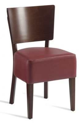 Rebecca V3 Dining Chair In Wine Leather