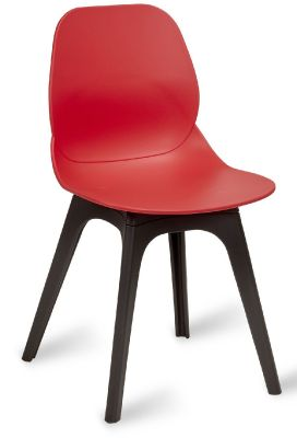 Mylo Chair With A Red Shell And Black Legs V13