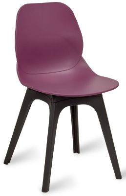 Mylo V14 Chair With A Plum Shell And Black Legs
