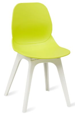 Mylo V15 Designer Chair With A Lime Green Shell And White Frame