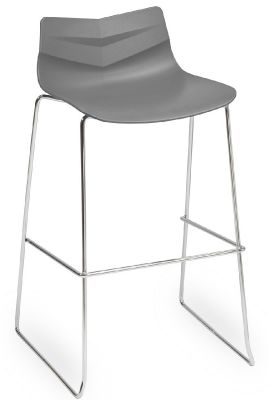 Graphic High Stool With A Grey Seat
