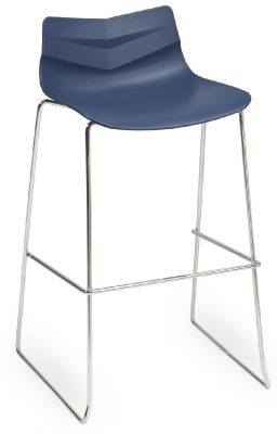 Graphic High Stool With A Navy Blue Seat