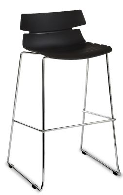 Foxtrot Designer High Stool With A Black Seat