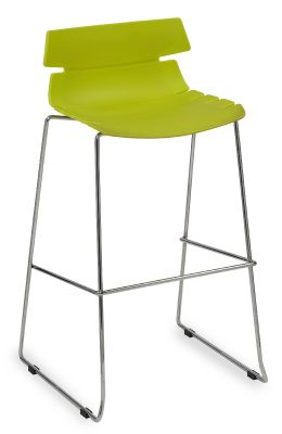 Foxtrot Designer High Stool With A Lime Green Seat