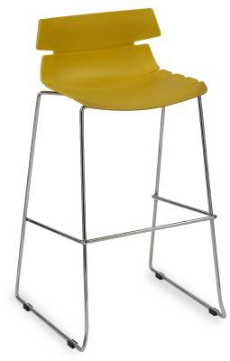 Foxtrot Designer High Stool With A Mustard Seat