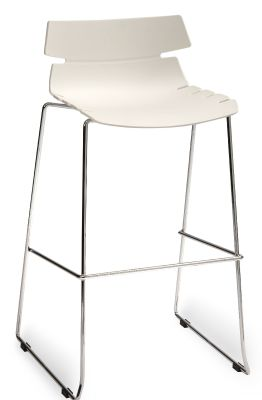 Foxtrot Designer High Stool With A White Seat