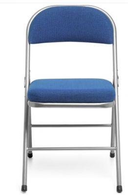 Universal Plus Comfortr Folding Chair In Blue Front Shot