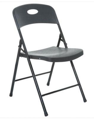 Contrax Plus Folkding Chair In BLack