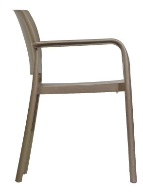 Mazie Outdoor Armchair In Taupe