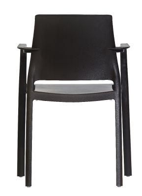 Mazie Outdoor Plastic Armchair Rear View