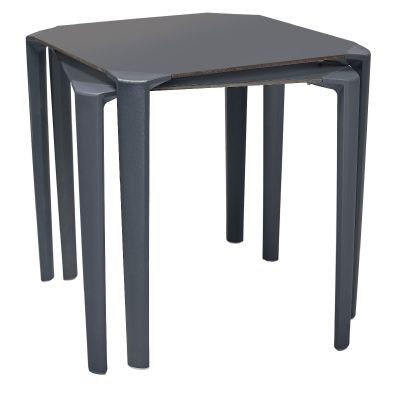Alama Stackable Outdoor Tables In Anthracite