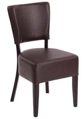 Rosie V3 Dining Chair Chestnut Leather
