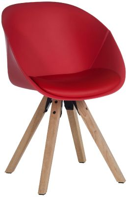 Chatty Padded Tub Chair In Red