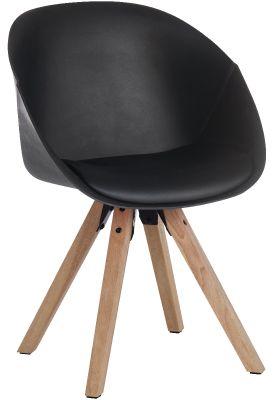 Chatty Black Plastic DEsigner Tub Chairs