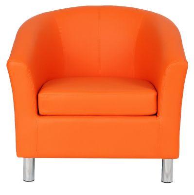 Tritium V2 Tub Chairs In Orange Face View