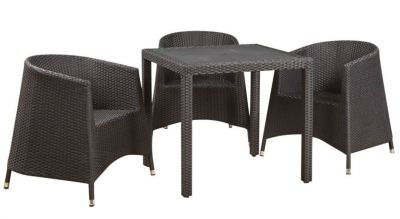 Tempa Tub Chair Weave Dining Set-2