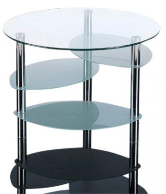 GCT Circular Four Tier Glass Coffee Table