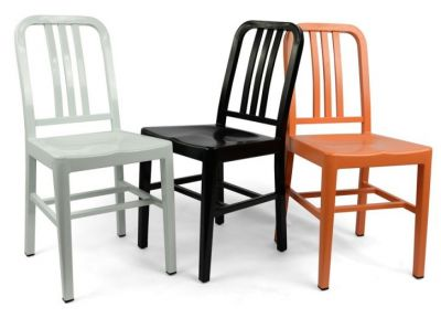 Coloured Navy Chairs 1