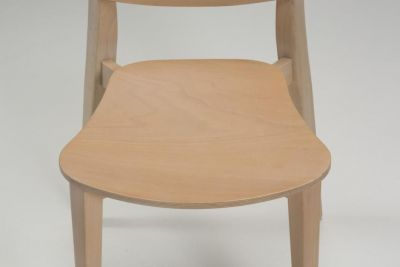Jupe Contemporary Dining Chair - Coloured Finishes 5