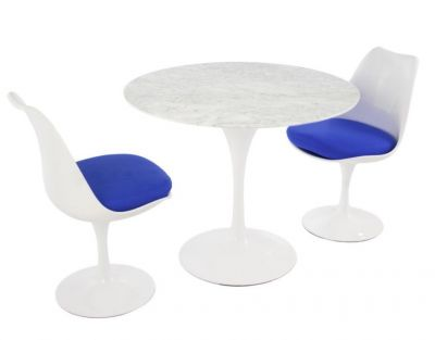 Blue Cushion Designer Dining Table Chairs
