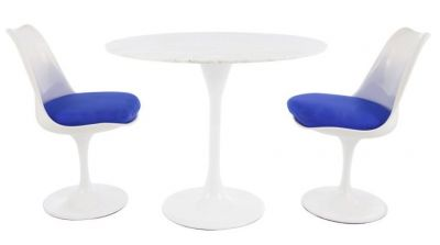 Blue Colour Seat Coral Restaurant Chair