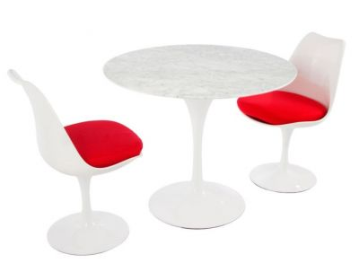 Red Cushion Designer Dining Set Table Chairs