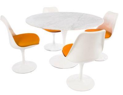 Designer Marble Colour Cushions Dining Set