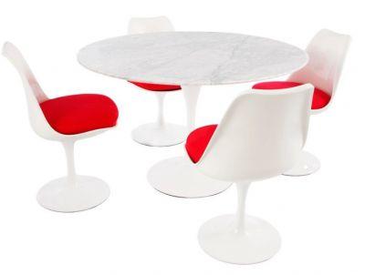 Red Cushion Designer Dining Restaurant Set