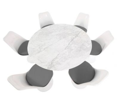 Colour Cushion Marble Top Dining Set