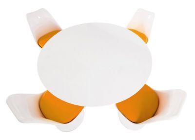 Four Chair Colour Cushion Dining Set