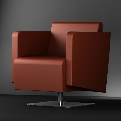 Mia Designer Chair With A Square Base