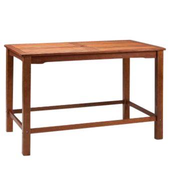 Taunton Outdoor Rectangular Wooden Bar Table