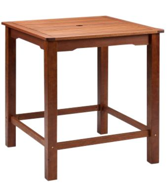 Taunton Outdoor Wooden Square Bar Table