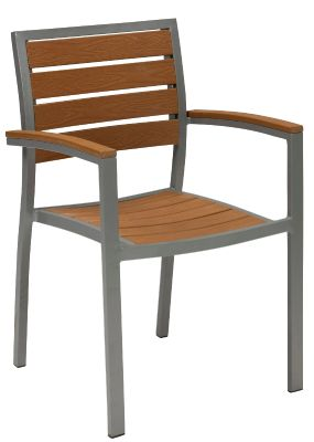 Vito Artifical Teak And Aluminium Armchair